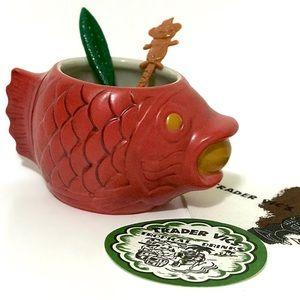 Trader Vic's Golden Koi Fish Tiki Mug Plus Extras